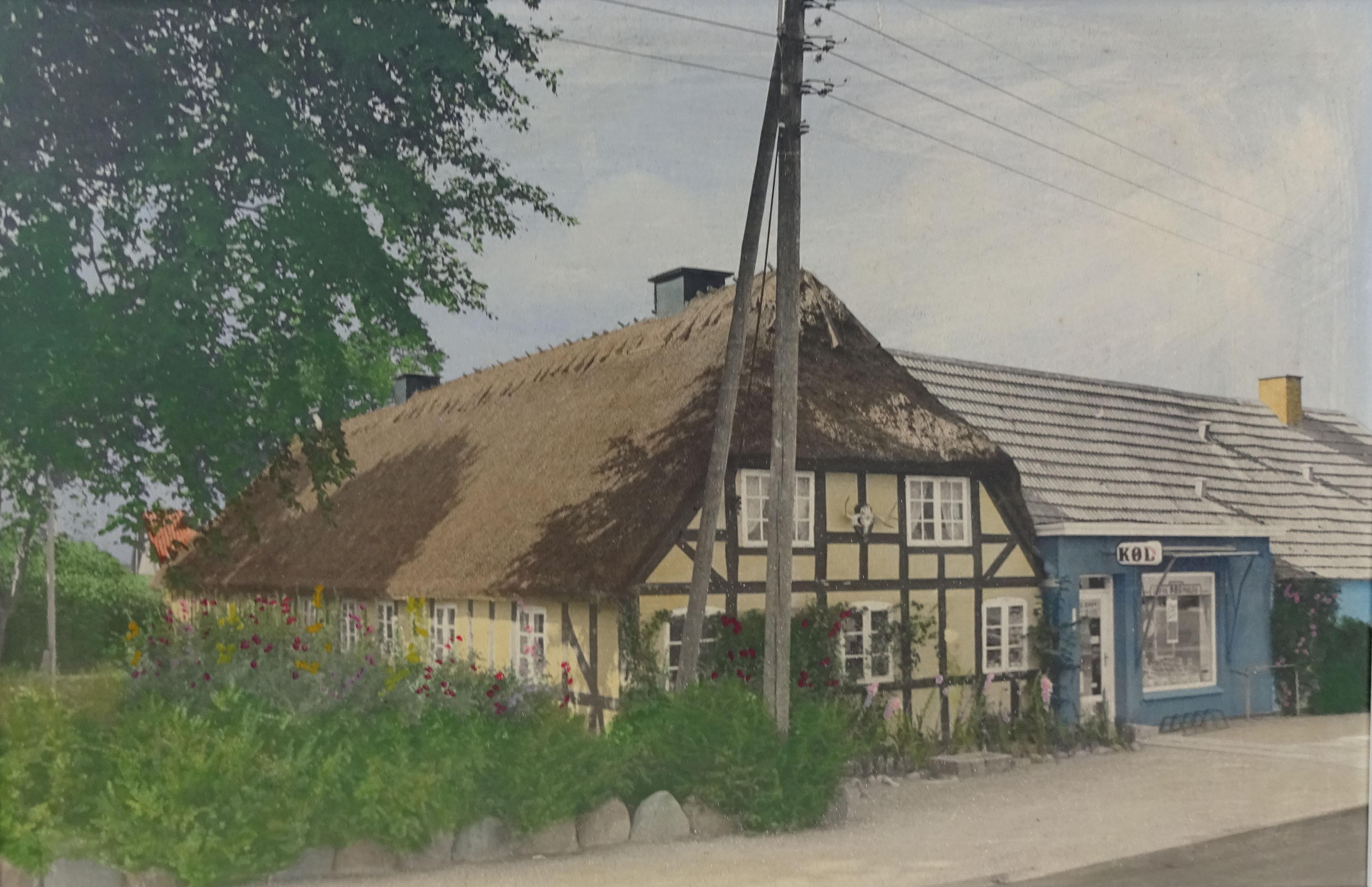 Odensevej 38. Maleri. Bagpå står: 25. Oktober 1969