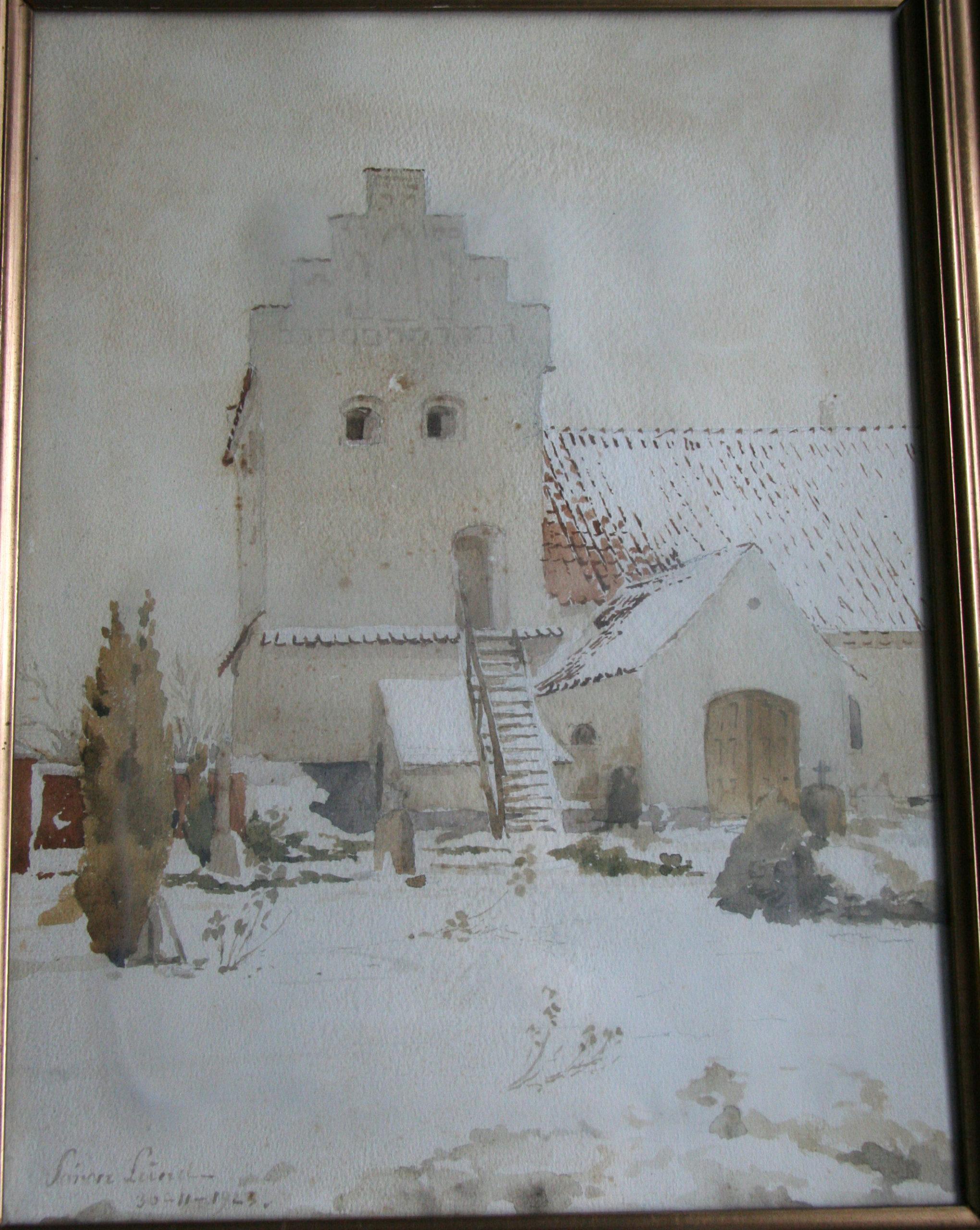 Våbenhuset og tårnet