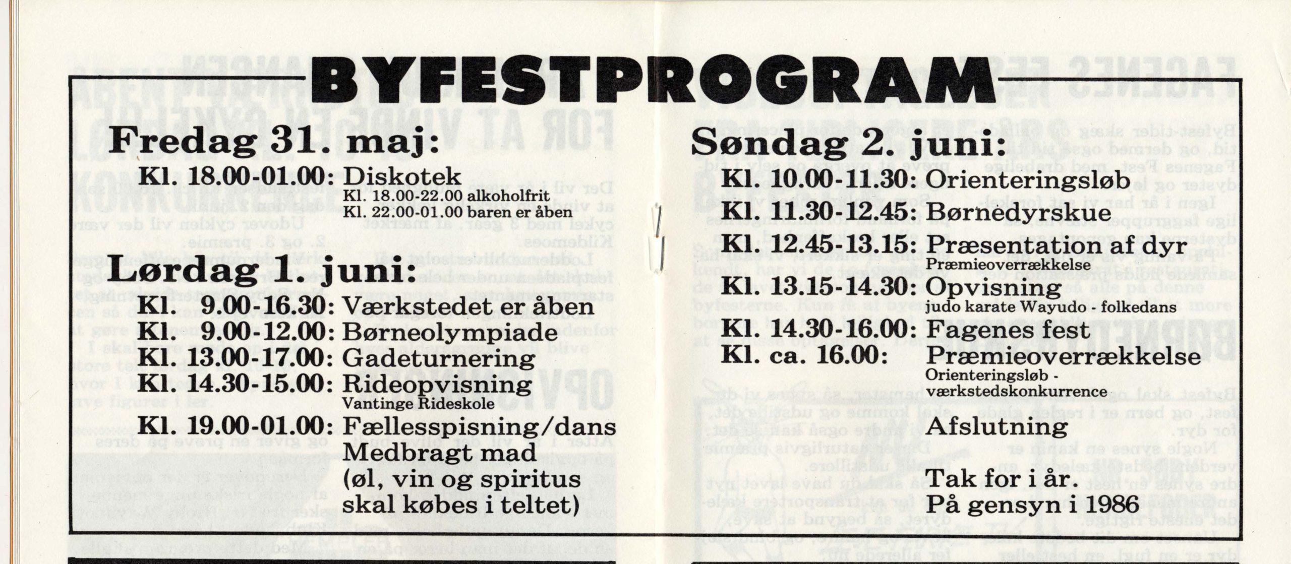 Program 1985